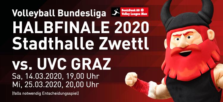 Halbfinalserie vom 11. März bis 28. März 2020 vs. UVC Graz