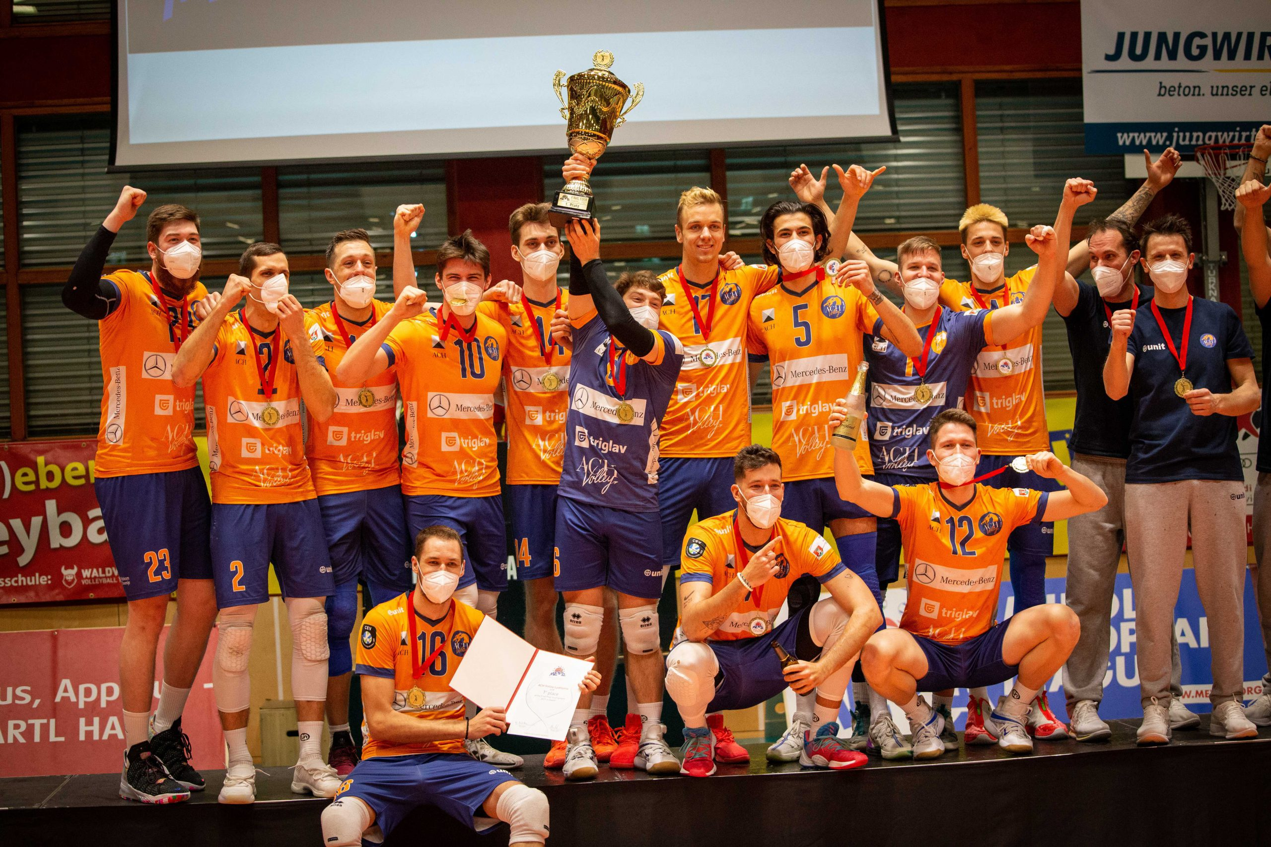 ACH Volley Ljubljana holt elften MEVZA-Titel
