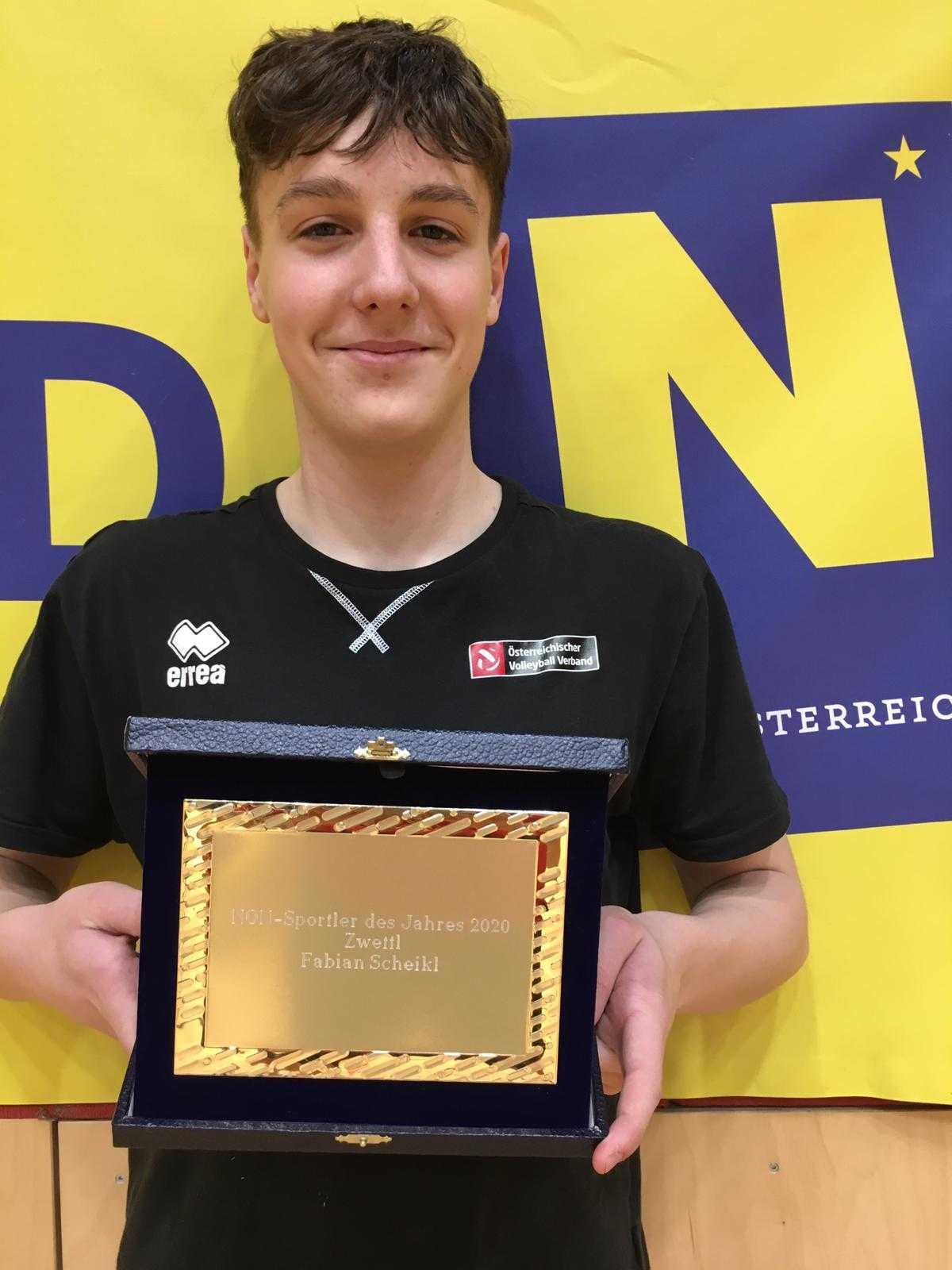 Volleyball-Youngster Fabian Scheikl zum NÖN-Sportler des Jahres gekürt